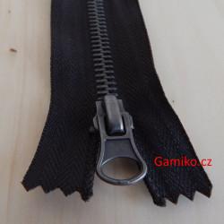 Kovový zip 18cm - černý