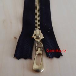 Kovový zip 14cm - černý