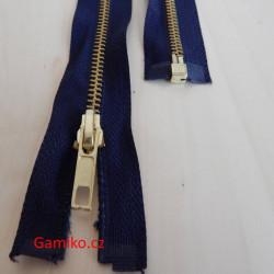 Kovový zip 40cm - tmavě modrý