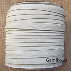 Prádlová pruženka 8 mm bílá
