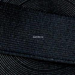 Prádlová pruženka 25 mm černá